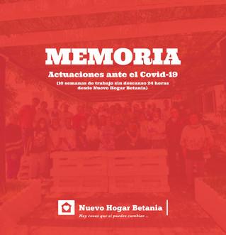 Memoria COVID-19 - Nuevo Hogar Betania