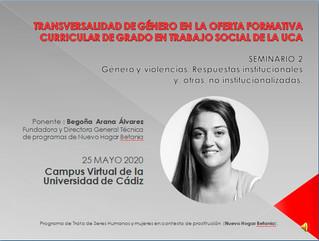 SEMINARIO: Transversalidad de Género en la Oferta Formativa Curricular de Grado en Trabajo Social de