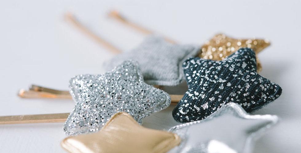 Glitter Star Bobby Pins