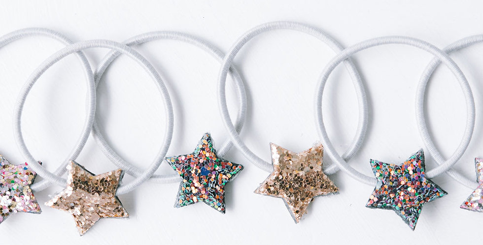 Glitter Star Hair Bands