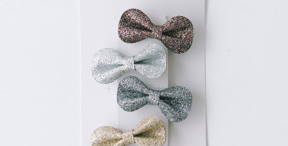 Glitter Bow Clips