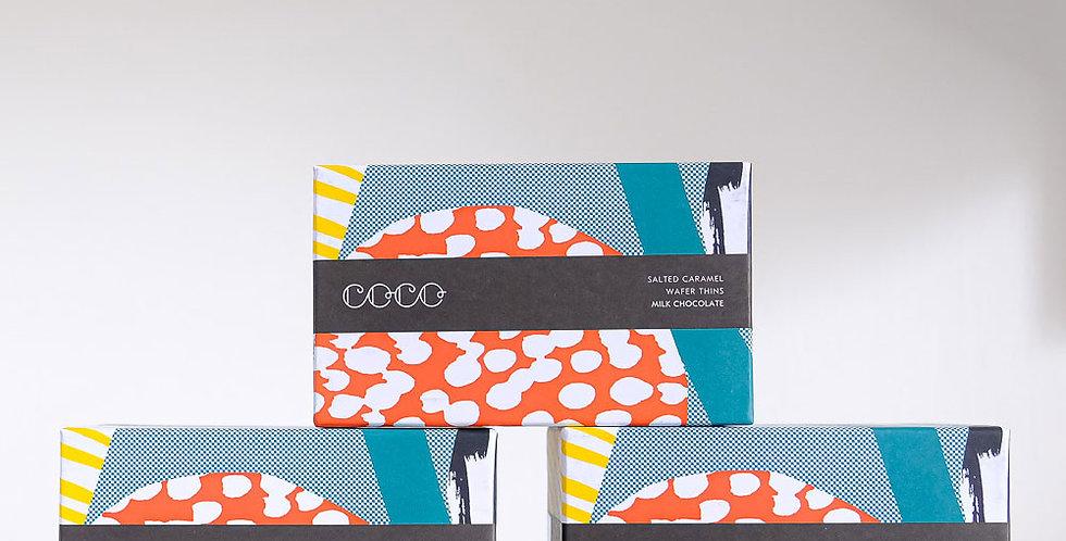 Coco Chocolatier - Salted Caramel Milk Chocolate Wafer Thins