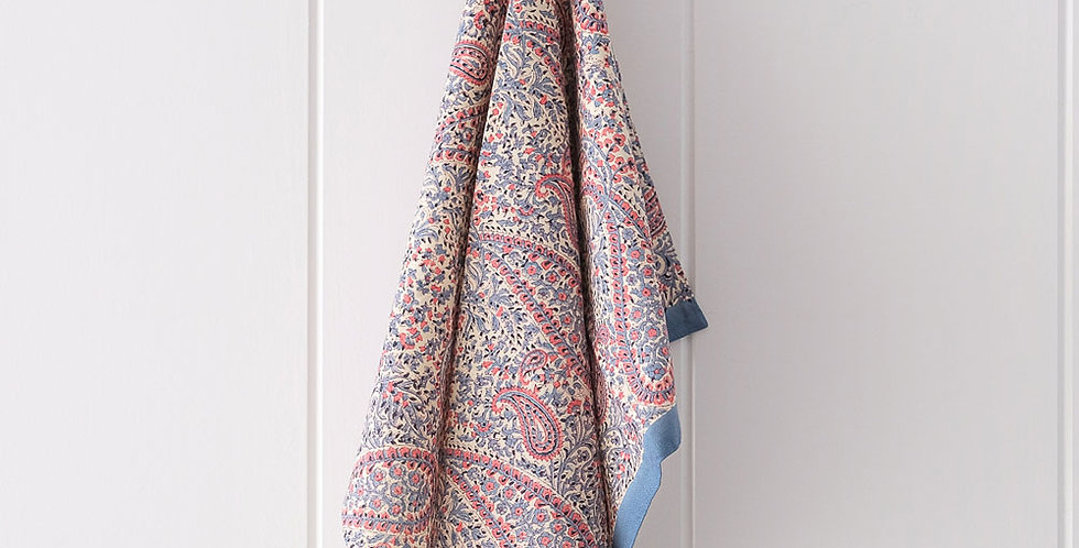 Bungalow Tea-Towel Blue Paisley