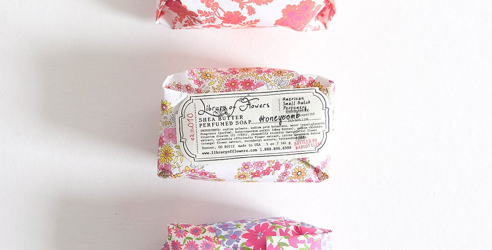 Library of Flowers Soap Bar