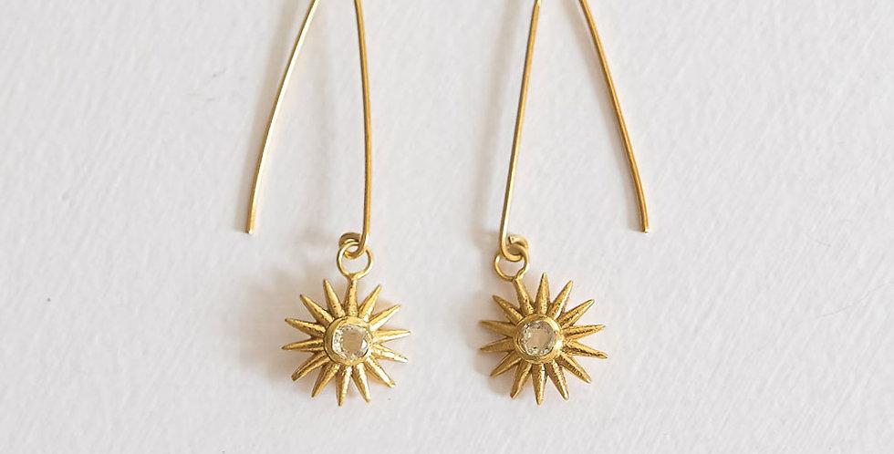 Sun Pendant Earrings