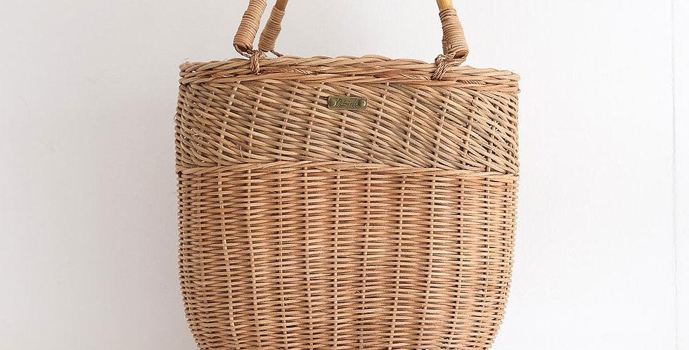 Rattan Bucket Bag