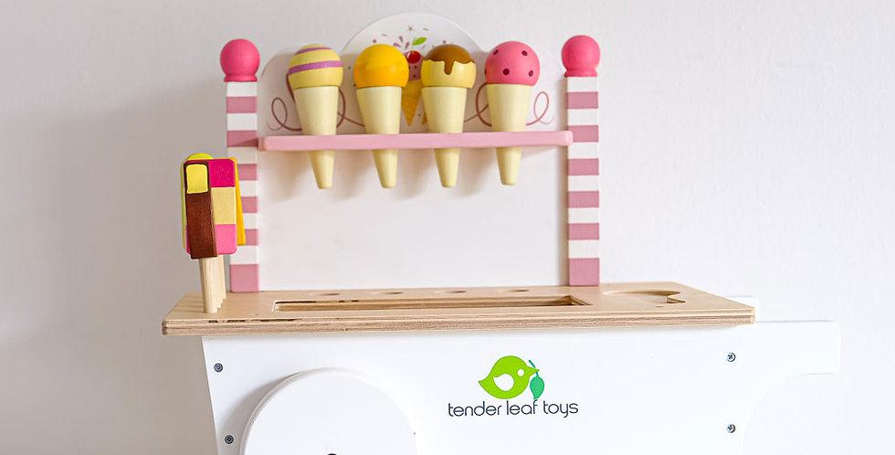 Wooden Toy Ice-cream Cart