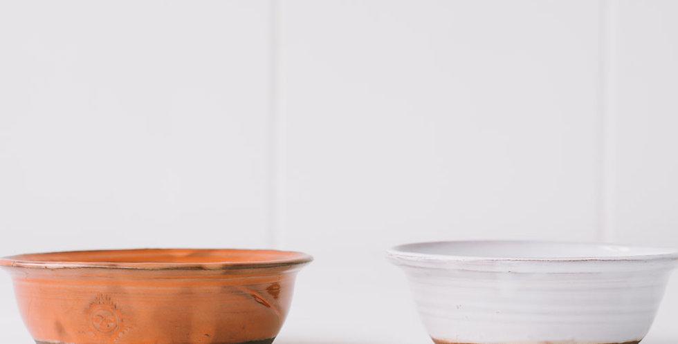 "Barbotine Olive Bowl 4.5"""