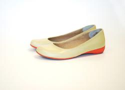 Cream and Orange Shoes
