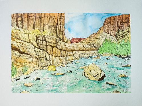 Muddy Creek Watercolor