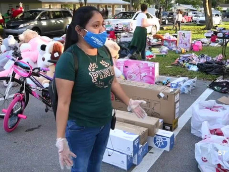 Guatemalan Maya Center provides food, gifts for insecure families at holiday drive-up event