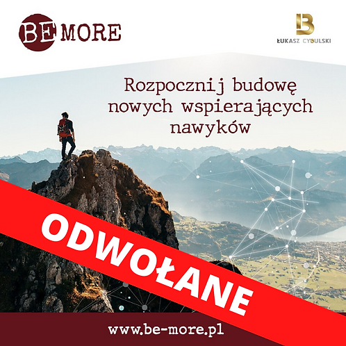 Program BE MORE, TYCHY 13-14.06.2020