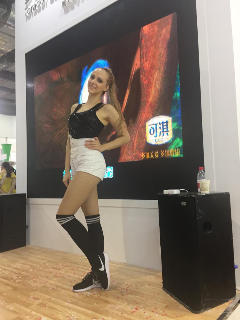 Куликова Ольга на выставке с сольным танцем