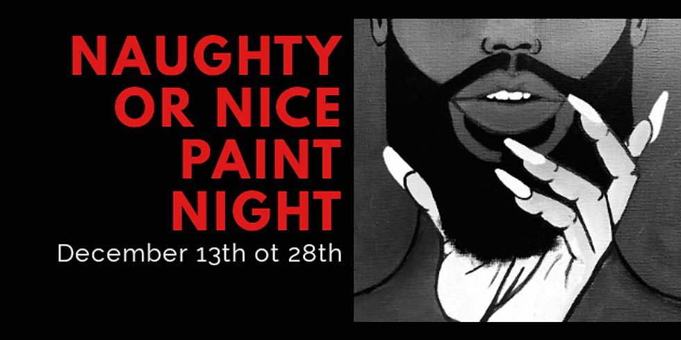 Noche de pintura traviesa o agradable