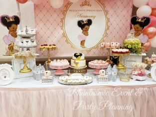 Baby Girl Dessert Table