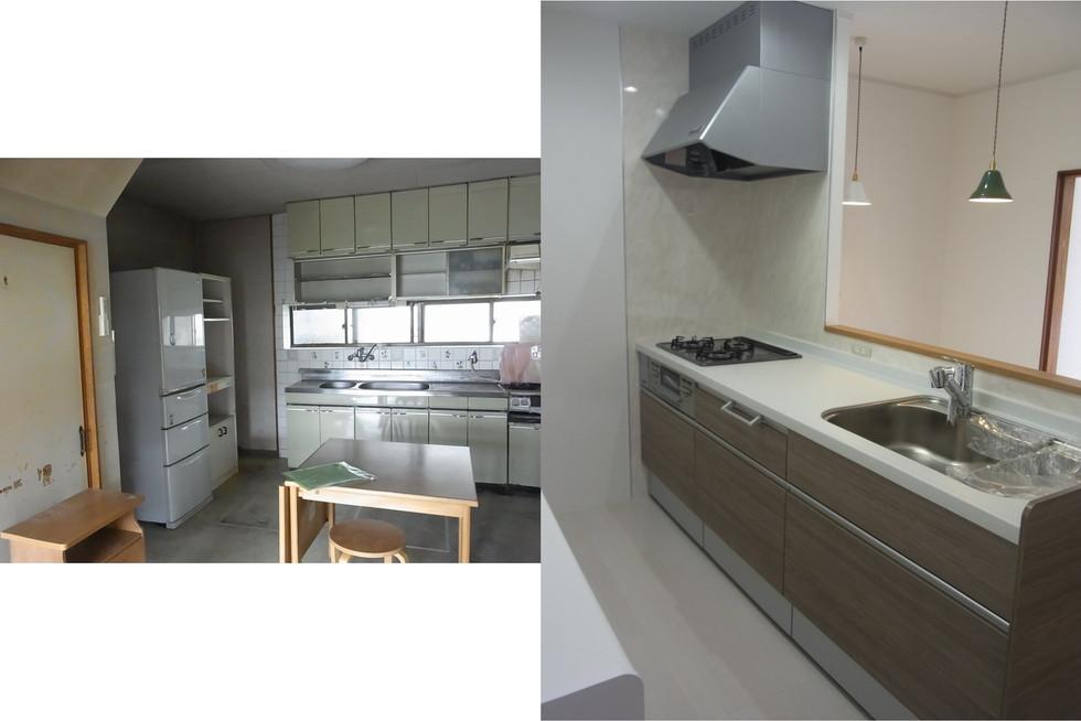壁付けキッチンを対面キッチンにリフォーム