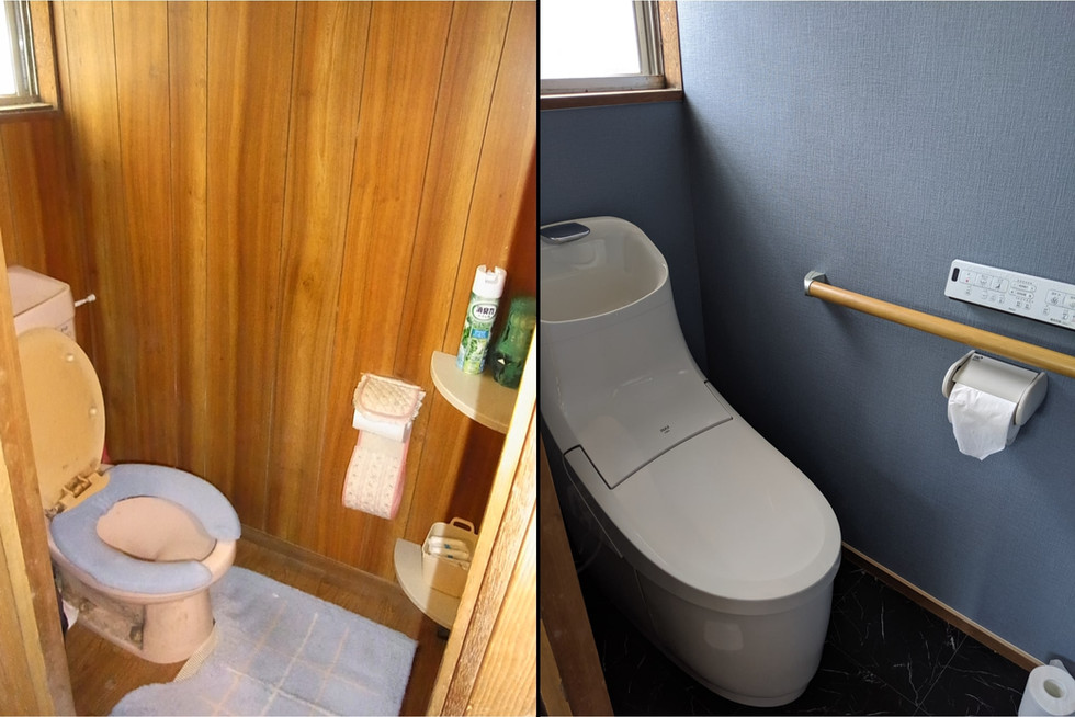 お掃除しやすいトイレにリフォーム