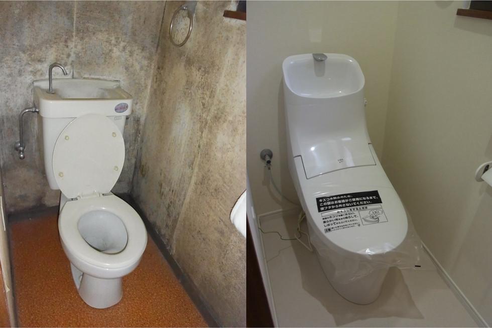 お掃除しやすいトイレへのリフォーム