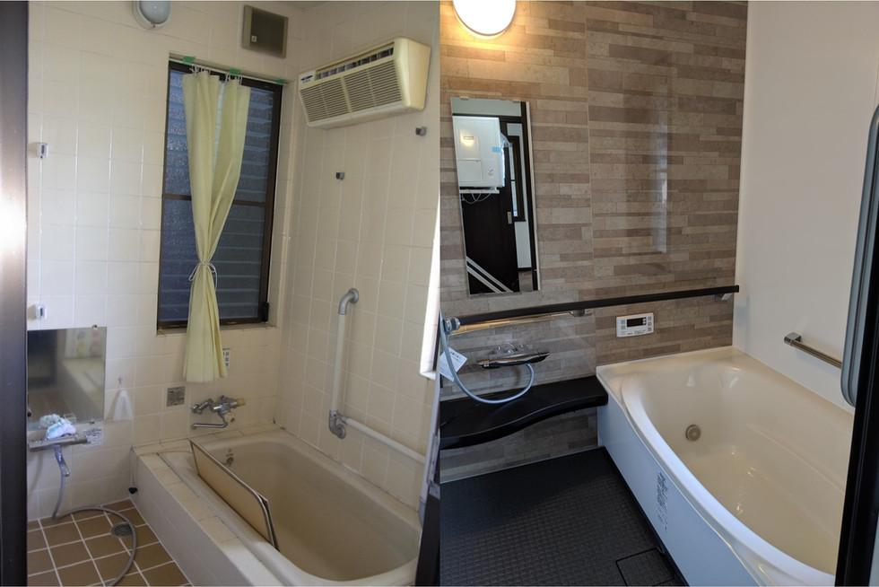 在来工法の浴室リフォーム