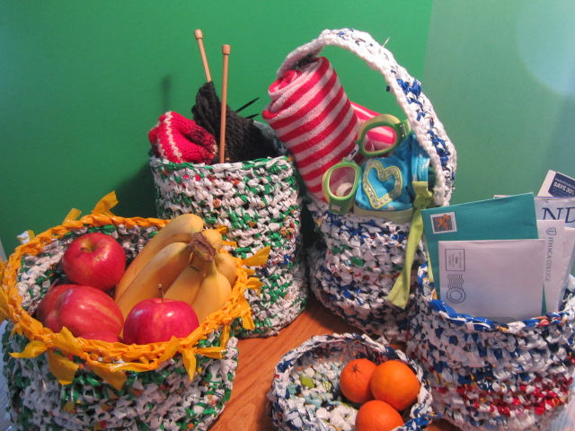 Custom Plarn Baskets