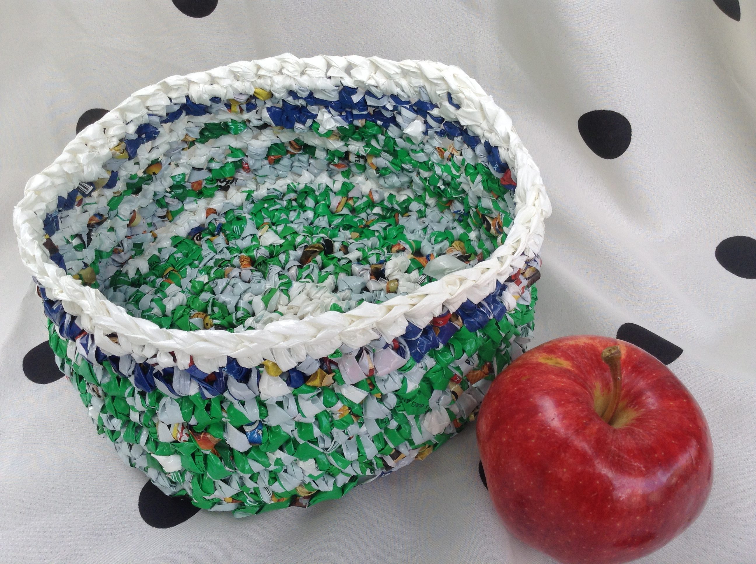 Shallow Plarn Basket