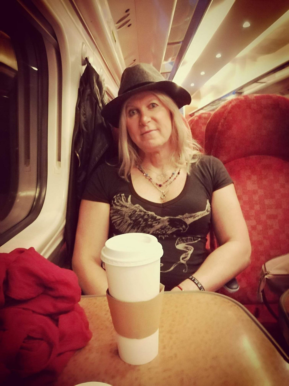 on the train to the Highlands