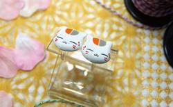 樹脂イヤリング(ニャンコ先生×2)
