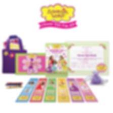 The Flower Girl Fun Kit is the perfect flower girl gift. It includes practice petals and basket, activity book, memory book, official certificate, and more!