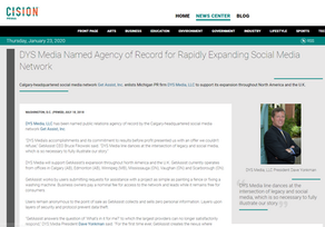 DYS Media Named Agency of Record for Rapidly Expanding Social Media Network