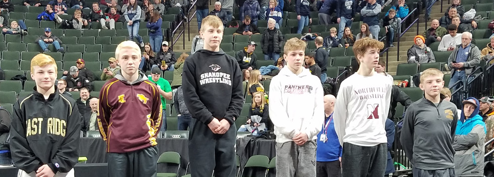 106 lb State Place Winners