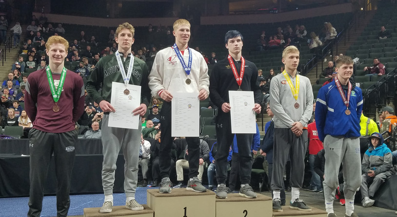 145 lb State Place Winners