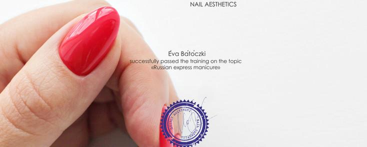 Diplôme Manucure Russe - Éva Bátóczki