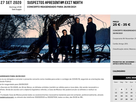 Exit North are to perform in Porto, Portugal on 26.09.2021