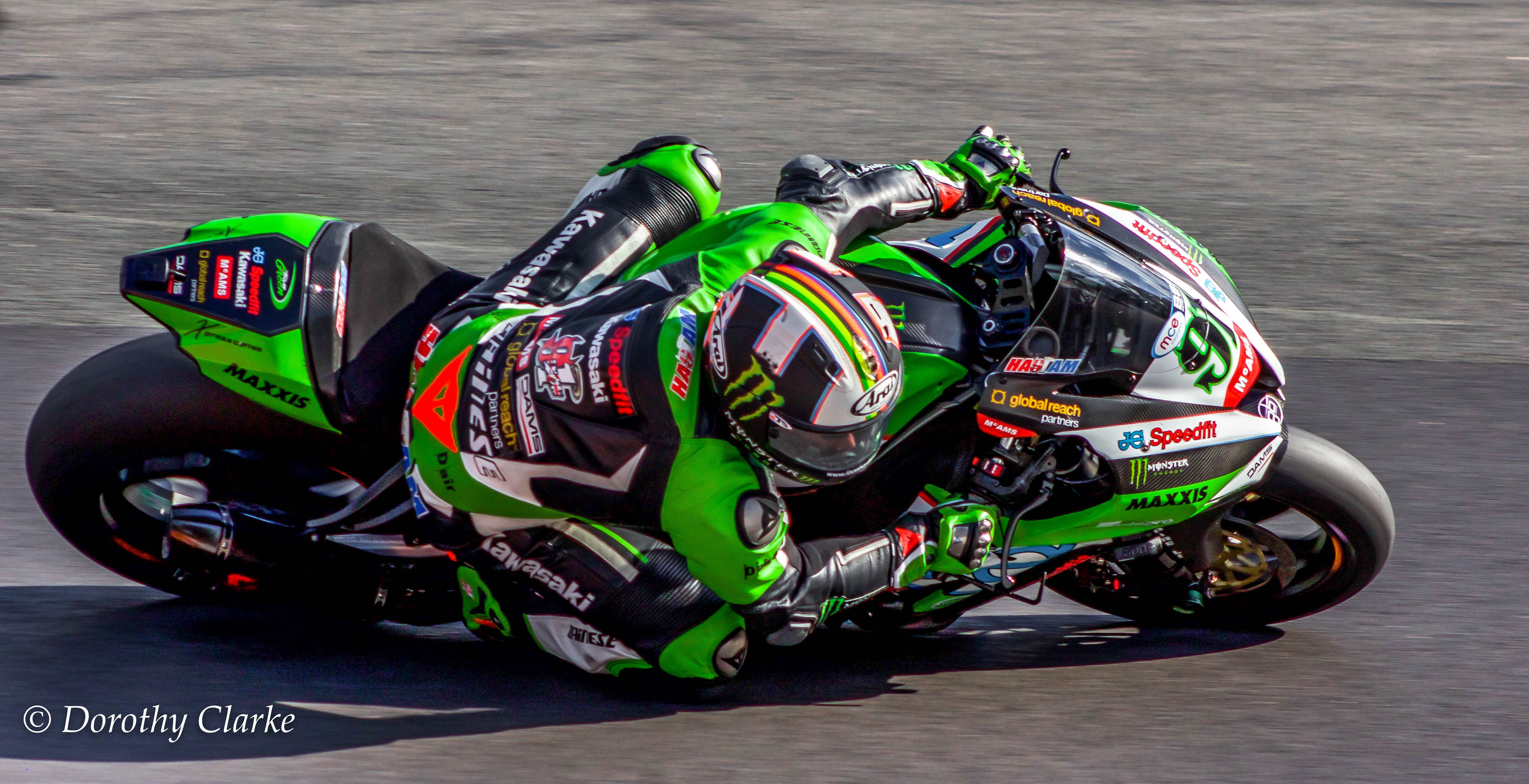 Leon Haslam at The Superbikes