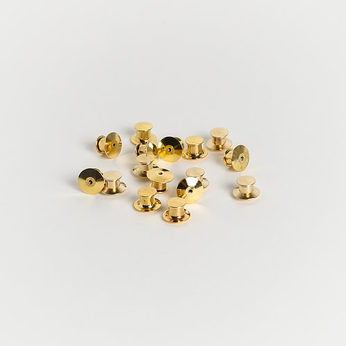 Gold Replacement Clutches - A Pair