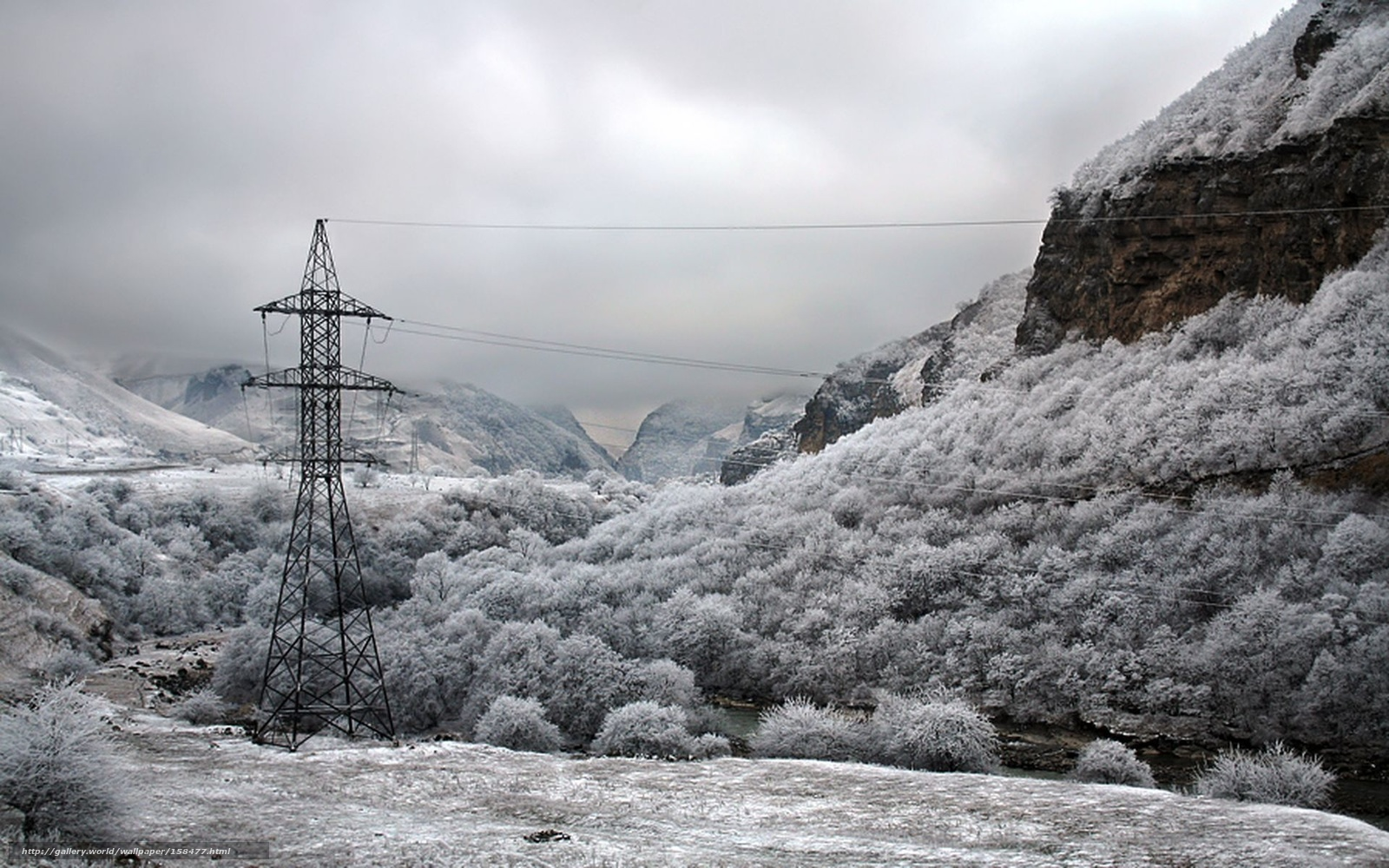 зима горы