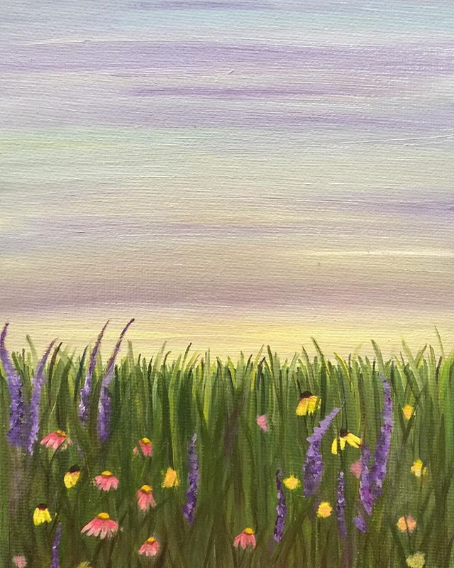 _Wildflowers_  6x8 oil  #oilpainting #oilpainter #painting #pastelcolors #artistsofinstagram #artist