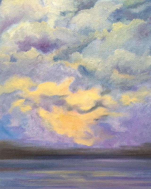 _Dawn_  6x8 oil  #oilpainting #oilpainter #painting #pastelcolors #artistsofinstagram #artistsoninst
