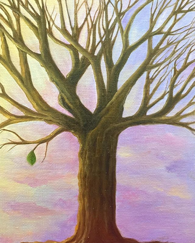 _Hope_  6x8 oil  #hope #treeoflife #trees #oilpainting #oilpainter #painting #pastelcolors #artistso