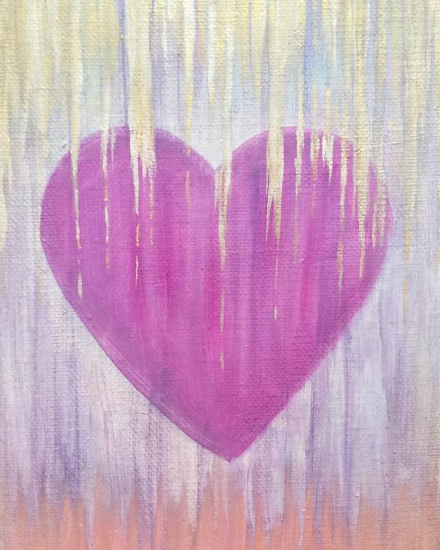 _Love is Love_  6x8 oil  #loveislove #hearts #acrylicpainting #pinkheart #pink #artwork #heartart #h