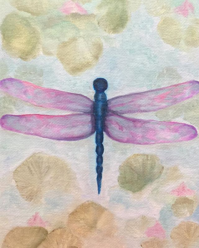 _Dragonfly_  6x8 oil  #dragonfly #dragonflys #dragonflywings #dragonflylove #oilpainting #oilpainter