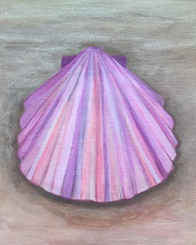_Pink Shell_  6x8 oil  #oilpainting #oilpainter #painting #pastelcolors #artistsofinstagram #artists
