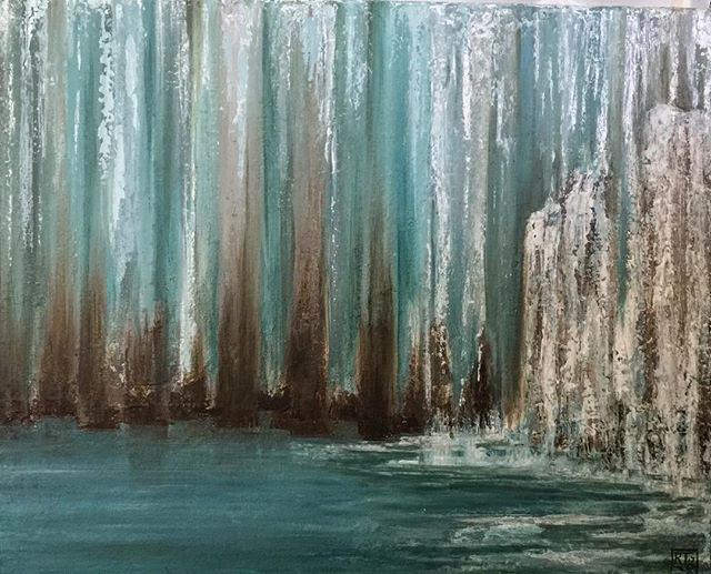 Abstract Glacier  Oil 16x20 stretched canvas.jpg