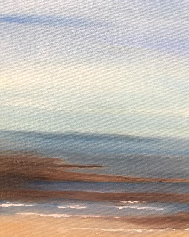 _Seascape_  6x8 oil  #oilpainting #oilpainter #painting #seascapes #beach #artistsofinstagram #beach