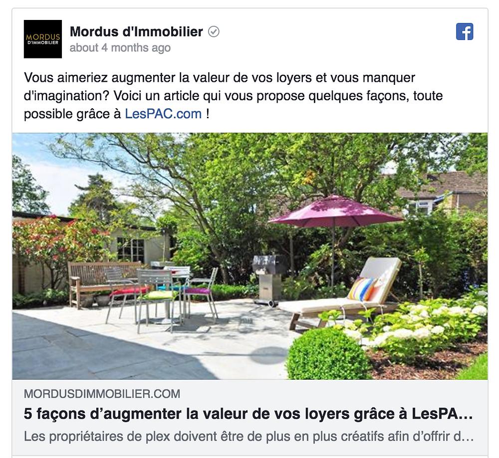 Collaboration Mordus d'immobilier X Clark influence -  Agence d'influence au Canada