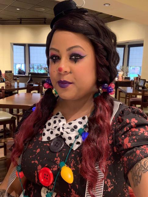 Halloween Jester Makeup on Roxana