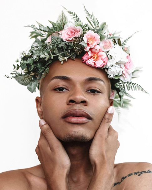 Grooming and headpiece by me, modeled by André Rice. Photographed by @brendaj.photo