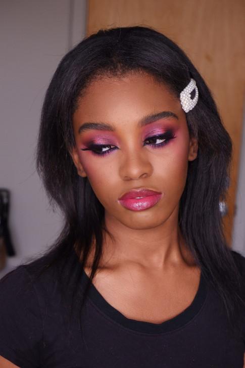 Purple cateyes on Alyssa