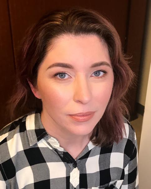 Natural bridal makeup for Kim