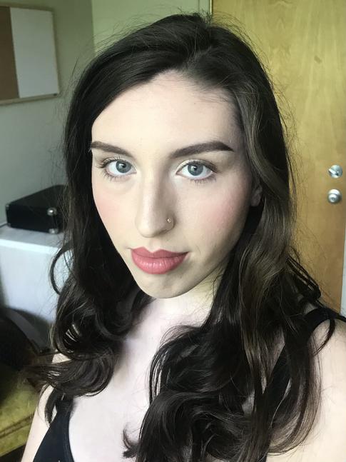 Blushing look for Rachel
